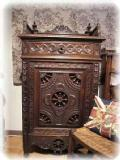 1880French Normandy Carved cabinet