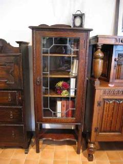 1910British stained book case