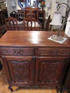 1920French carved cabinet