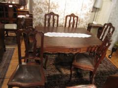 1920French dining table & 6chairs