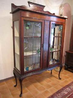 1910British stained showcase cabinet